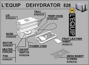 L'Equip (Magic Aire II) Dehydrator Parts