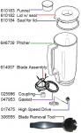 Bosch Universal Plus Blender Parts